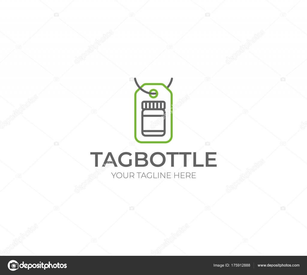 Tag Bottle Logo Template Glass Jar Vector Design Medicament ...