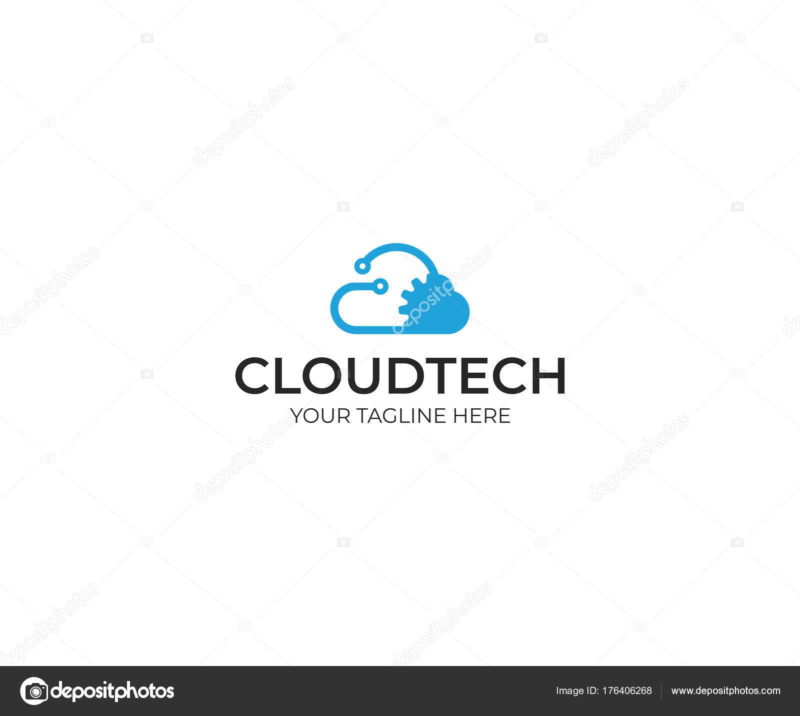 Cloud Technologie Logo Vorlage Cloud Computing Vektor Design Hosting ...
