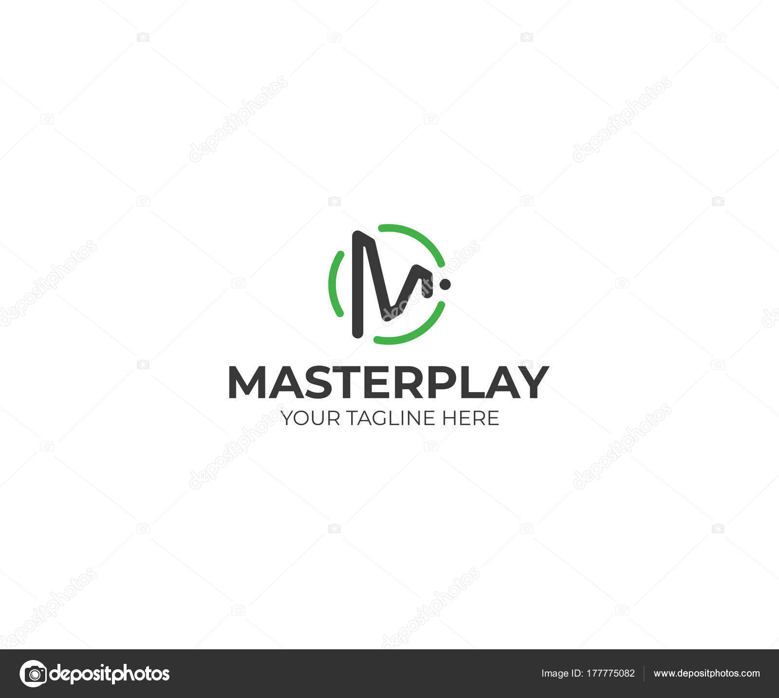Letter Play Symbol Logo Template Play Button Vector Design Play