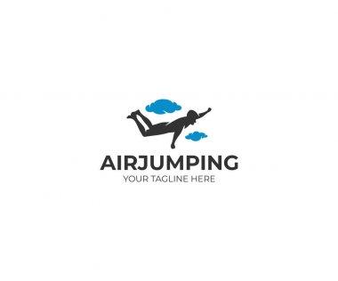 Freefly logo template. Skydiving vector design. Extreme sport illustration