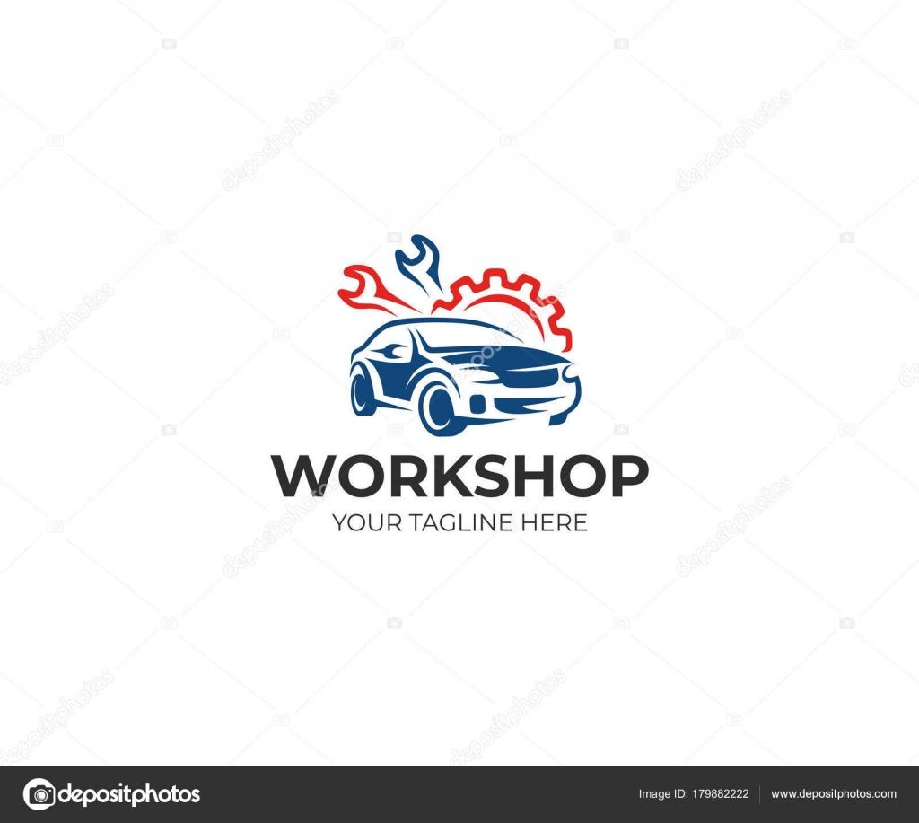 Modelo Logotipo Oficina Auto Design Vetor Auto Serviço