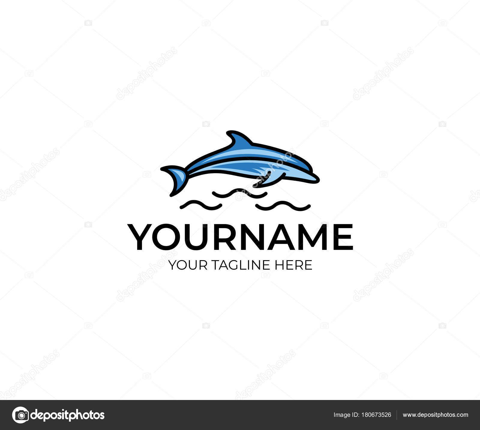 Colorful Dolphin Logo Template Fish Vector Design Animal ...