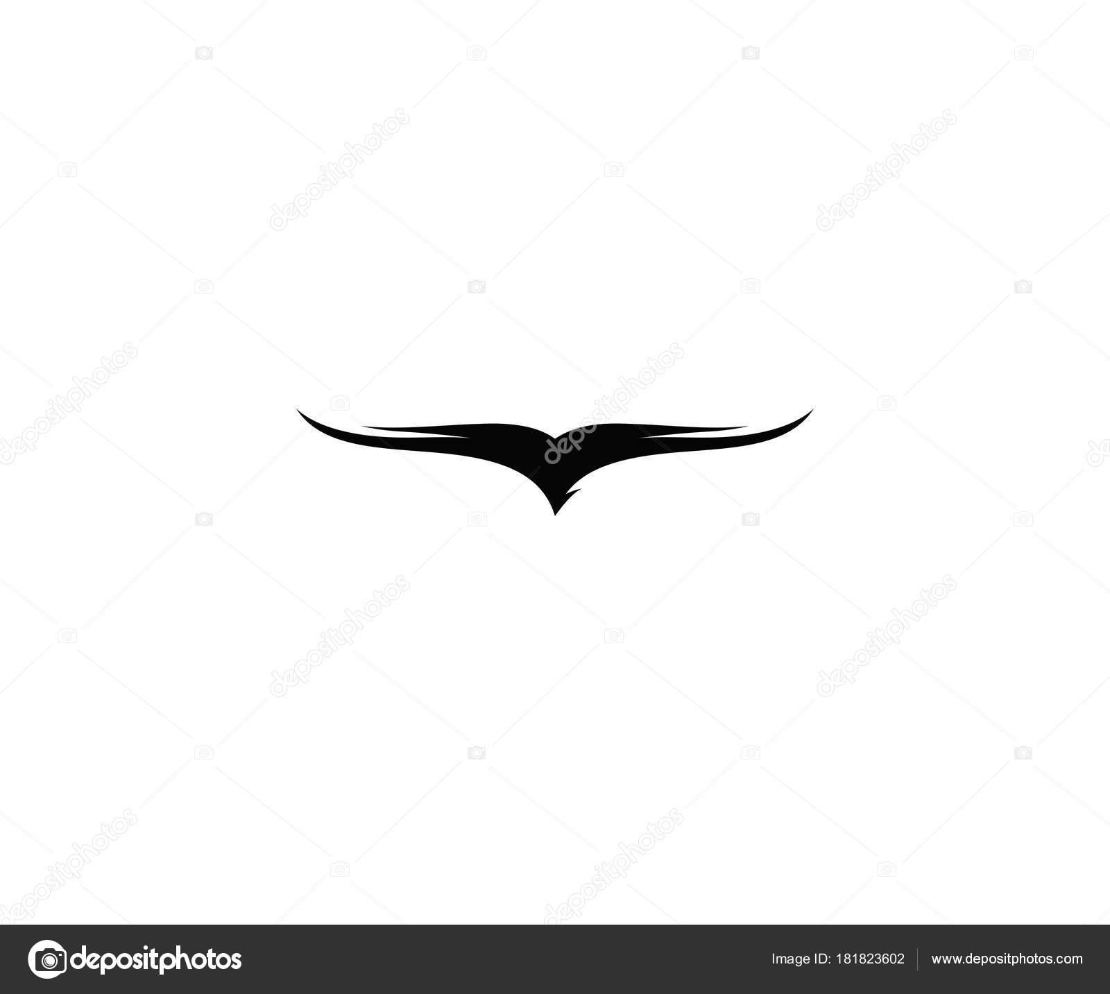 Modelo Logotipo Falcão Voador Águia Silhueta Vector Design ...