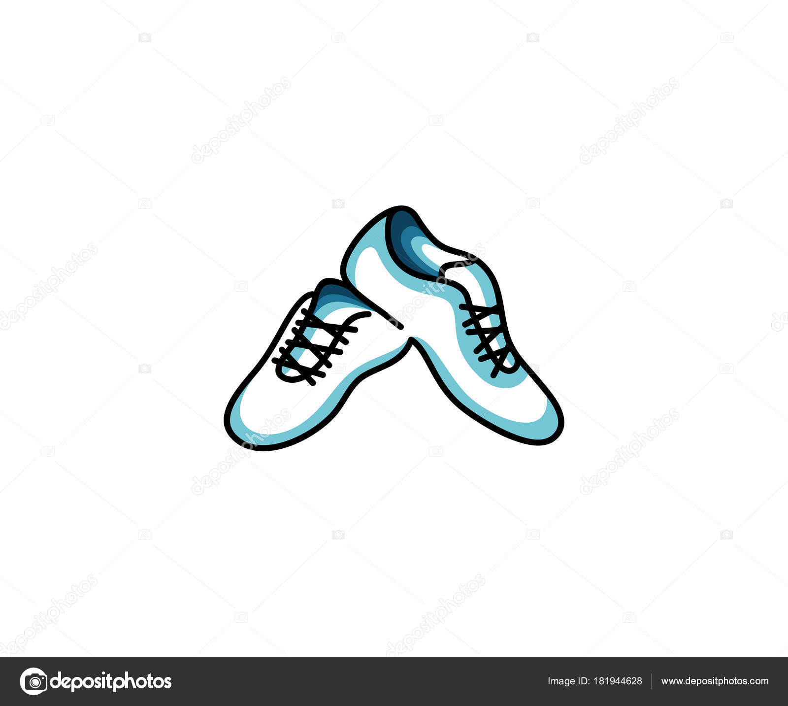 Shoes Sneakers Logo Template Sport Shoes Vector Design Clothes ...