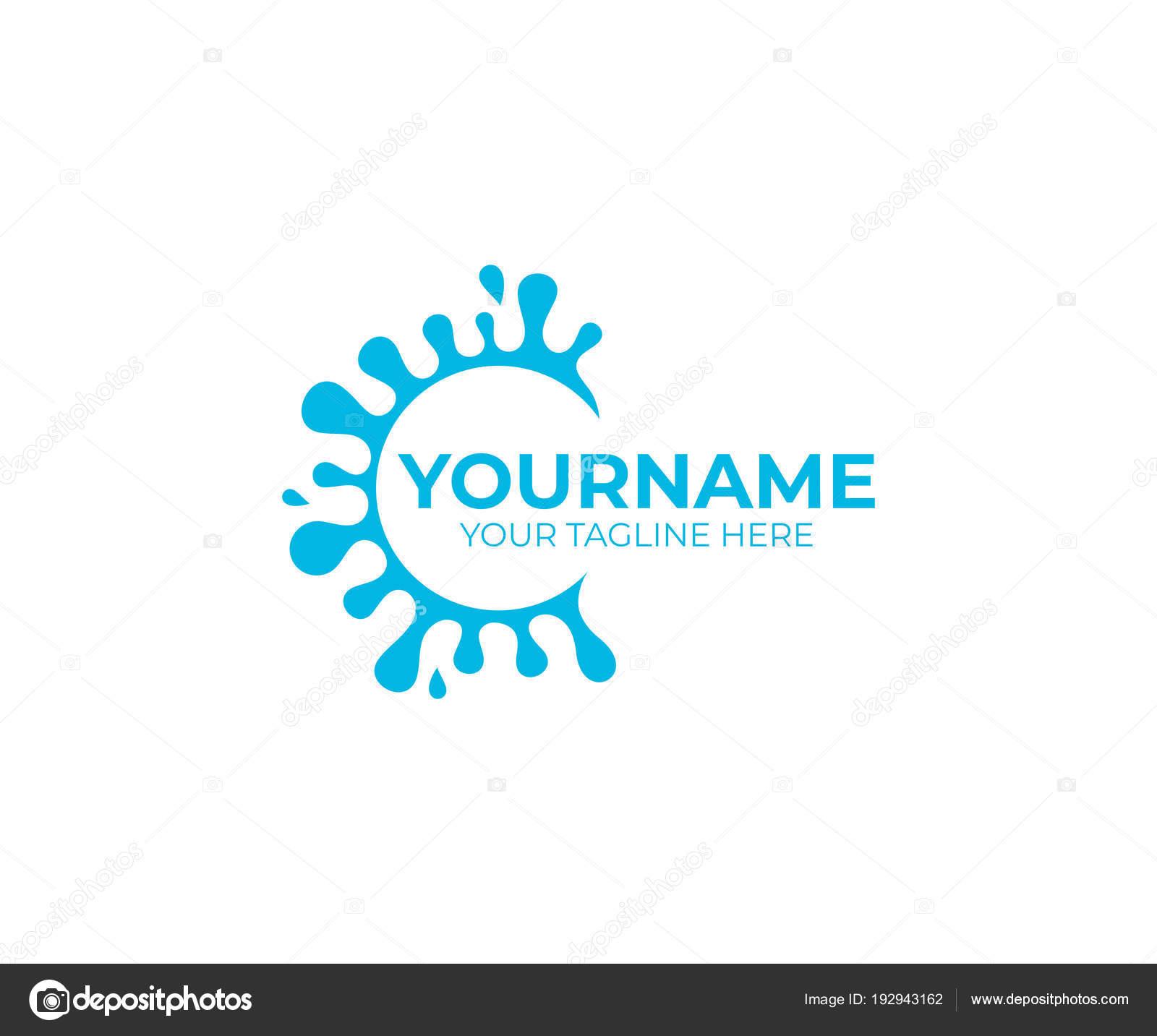 Sıçramasına Splash Meyve Suyu Süt Logo şablonu Sağlıklı Organik