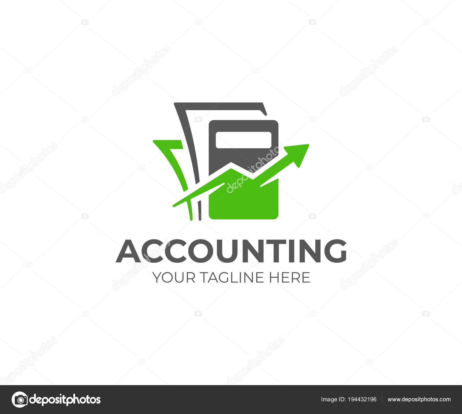 Buchhaltung Logo Vorlage Buchhaltung Vektor Design Taschenrechner ...
