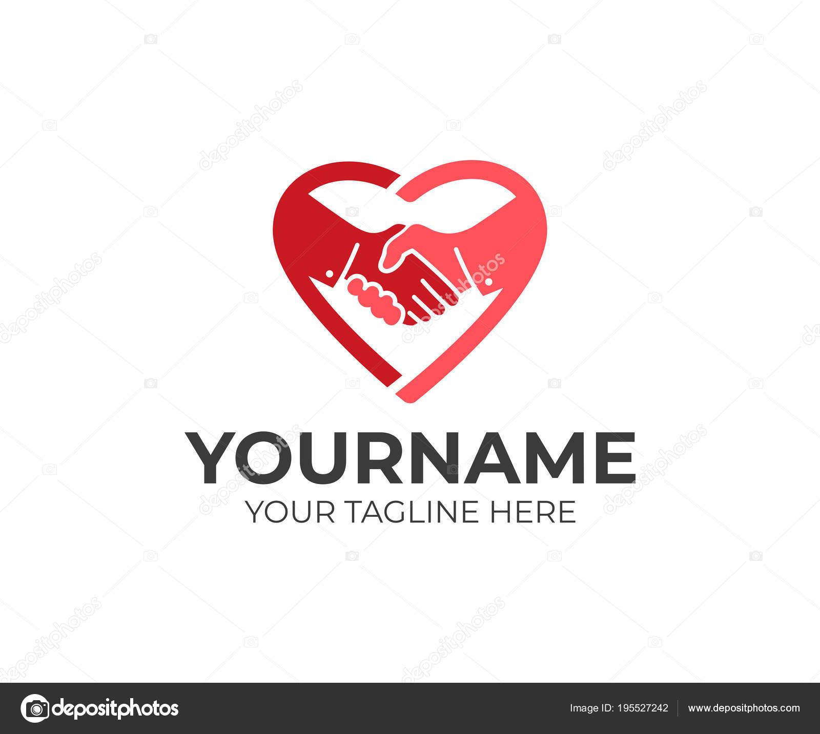 1011170c3bf0 Рукопожатие Сердце Логотип Шаблонов Дружбы Доверия Здравоохранения ...