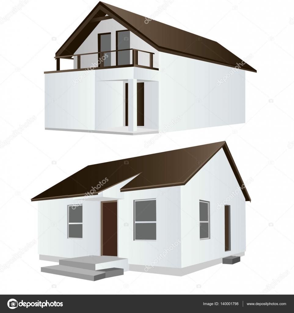Vektor-Illustration ein kühles Haus — Stockvektor © eduardrobert ...