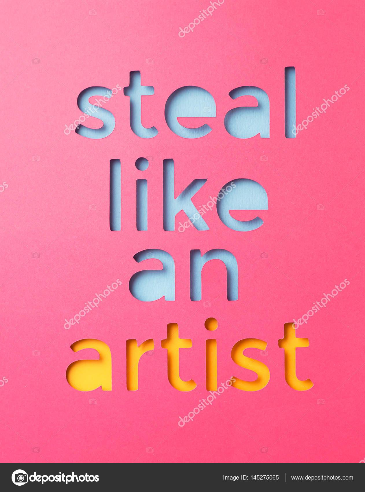 Design Stehlen wie ein künstler stehlen stockfoto bogdandreava 145275065