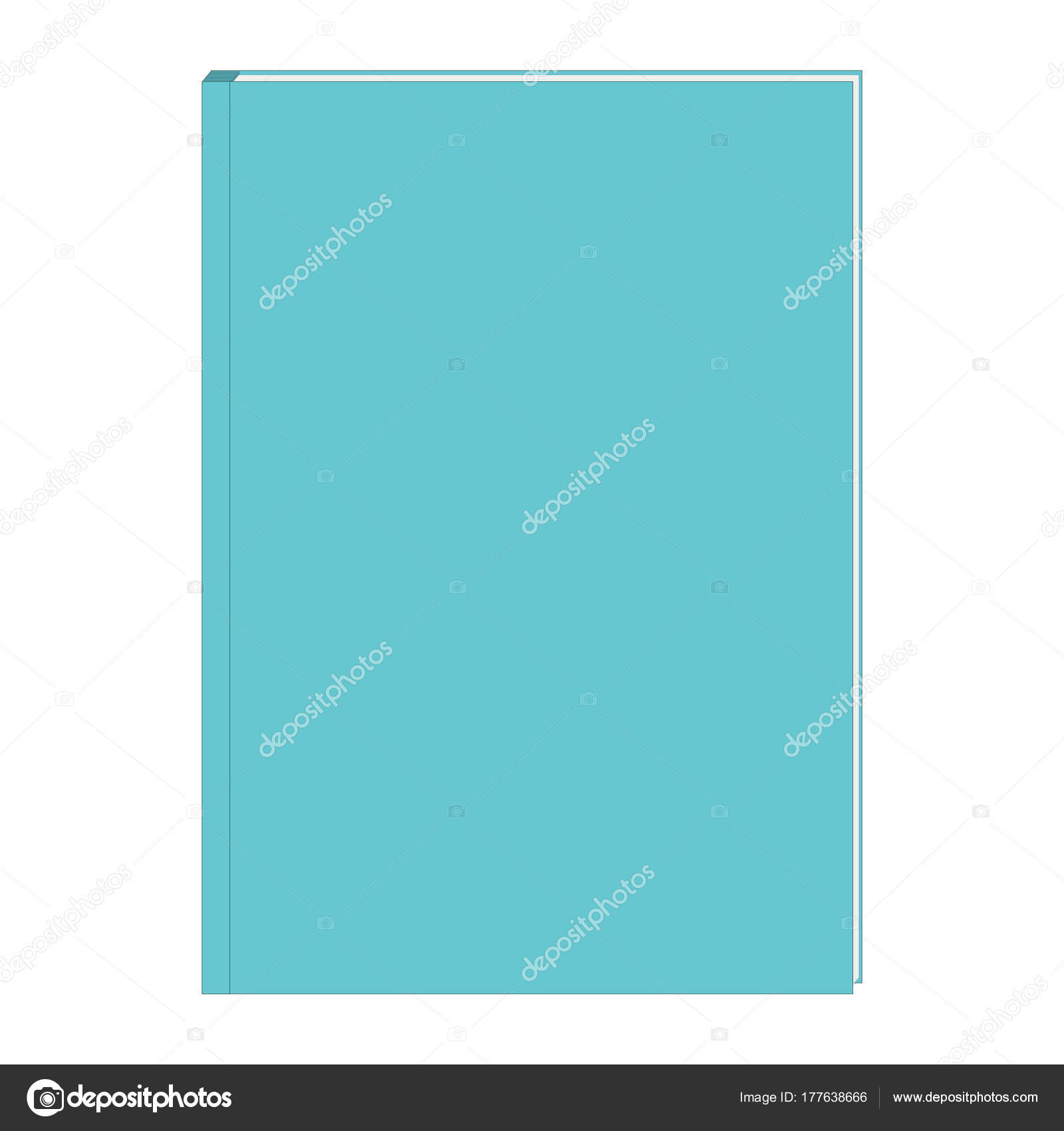 Buch Cover Vorlage Blaue Farbe Buch — Stockvektor © Maria_ #177638666