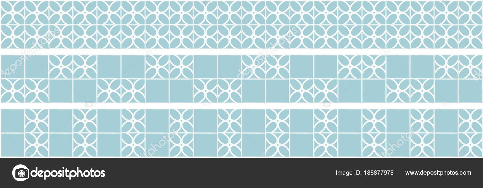 Küche Dekoration Von Quadratischen Fliesen Himmelblaue Farbe Grenzen ...