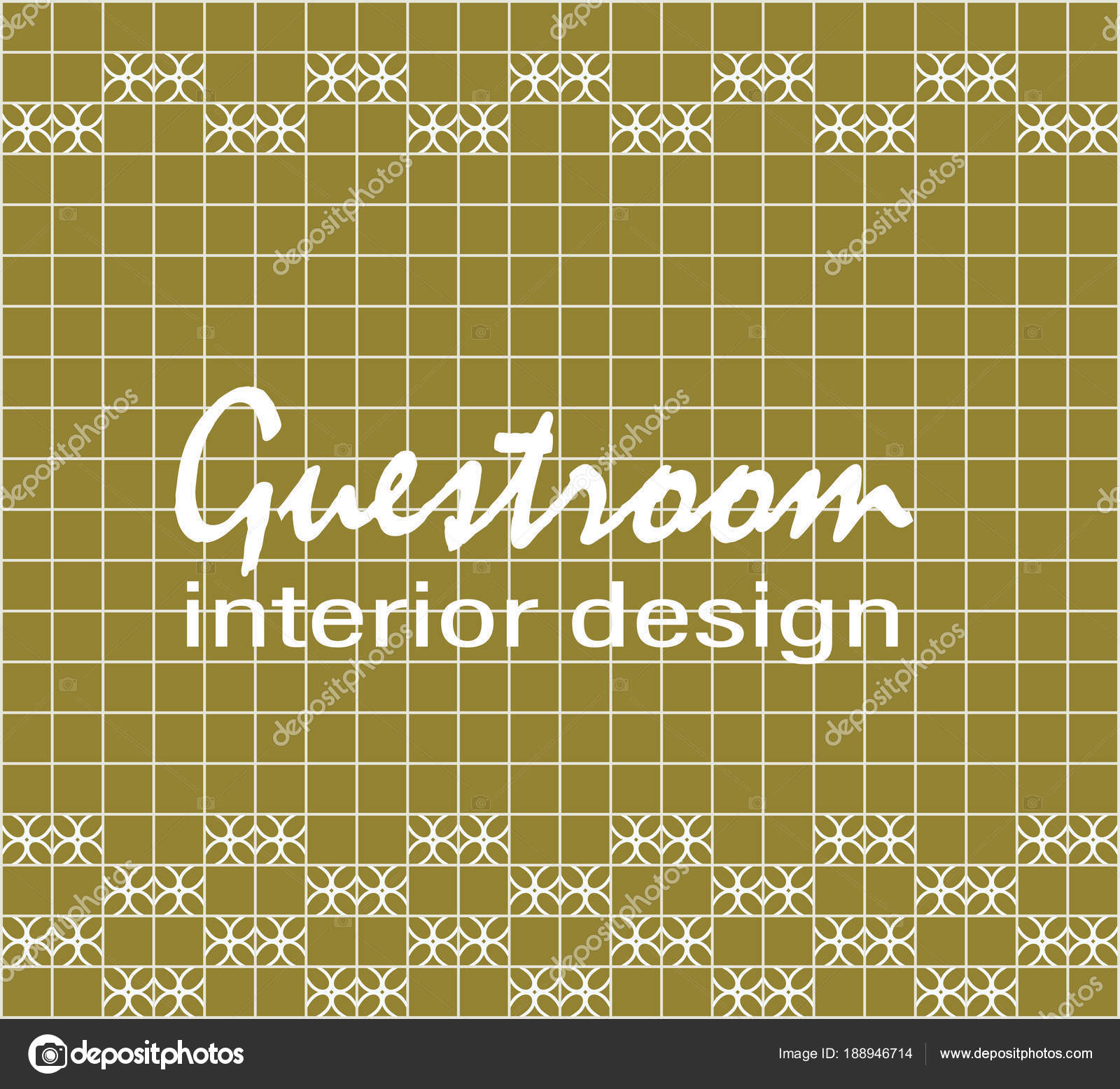 Guestroom Interior Design Text Tile Wall Yellow Green Square Tiles ...