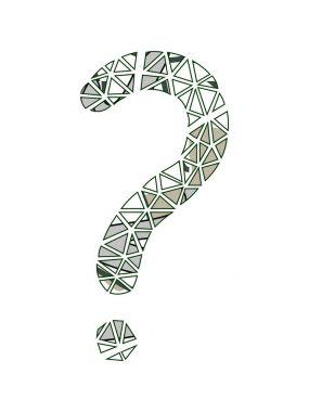 Question-mark. Floral design.