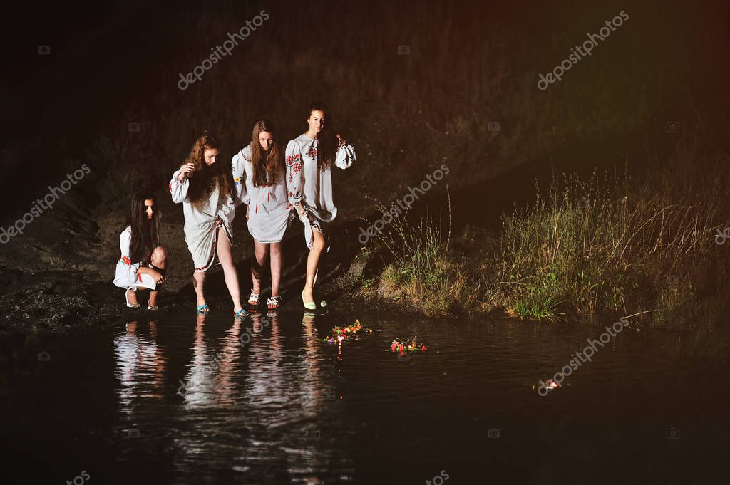 The celebration of the pagan Slavic holiday of Ivan Kupala Day or Midsummer