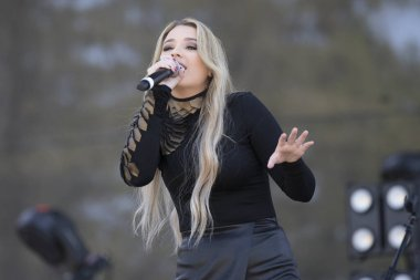Santa Rosa, CA/USA: 6/14/2019: Gabby Barrett performs at Country Summer Music Festival. She finished third in season 16 of the American Idol. She's opened for Toby Keith and Keith Urban.