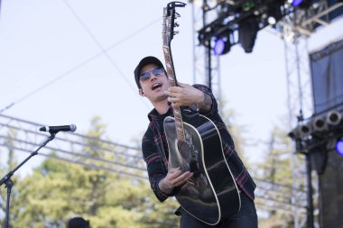 Santa Rosa, CA/USA: 6/16/2019: Devin Dawson performs at Country Summer Music Festival. He's toured with Brett Eldredge, Tim McGraw and Faith Hill.