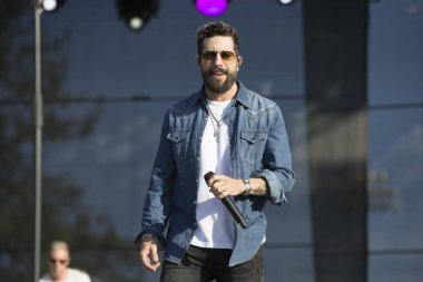 Santa Rosa, CA/USA - 6/16/2019 : Matthew Ramsey performs with Old Dominion at Country Summer Music Festival.  They have been nominated for American Music Awards and CMT Music Awards.