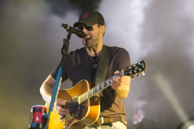 Napa, CA/USA: 6/1/14: Eric Church headlines BottleRock Music Festival day 3. He's an American country music singer-songwriter. He has released six studio albums and been nominated for nine Grammy Awards between 2012-2020.