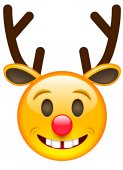 Photo Happy Christmas Cartoon Deer