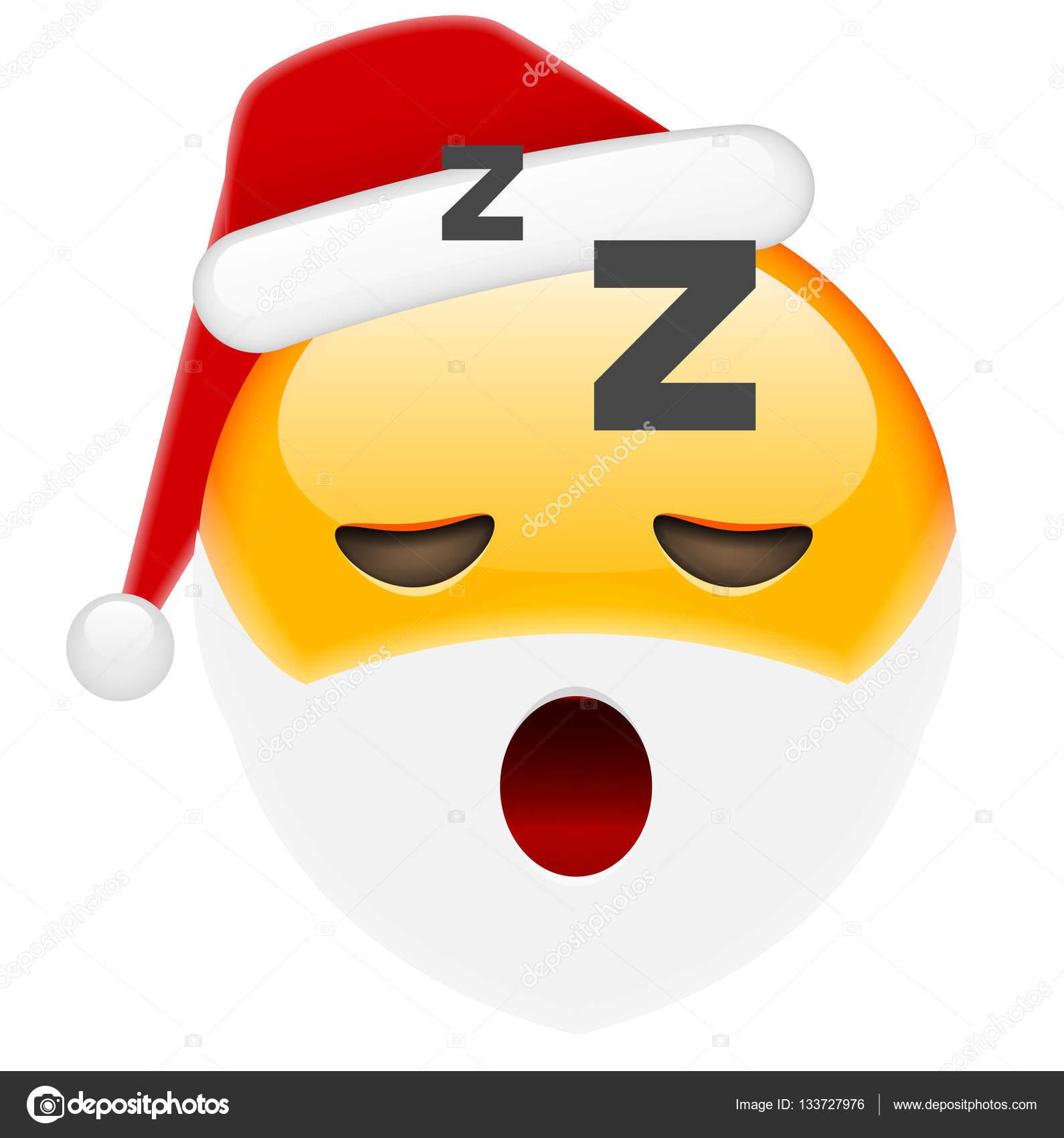 Sleepy Santa Smile Emoticon — Stock Vector © ober-art #133727976