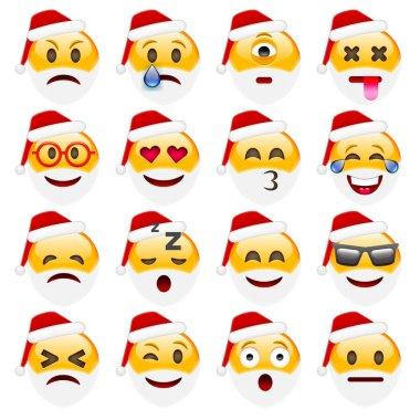 Set of santa Emoticons