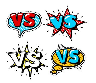 versus sign logos set
