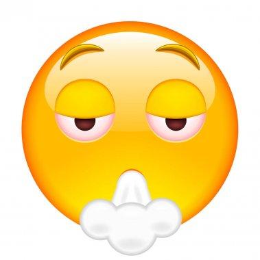 Emoticon Smoking Weed