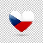 Česká vlaječka srdce