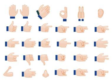 Set of Hands Emojis