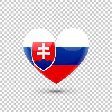 Slovak Flag Heart Icon
