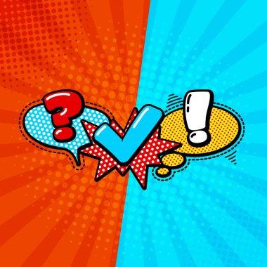 Quiz comic style Logo