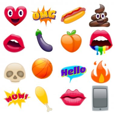 Set of various colorful Emoticons
