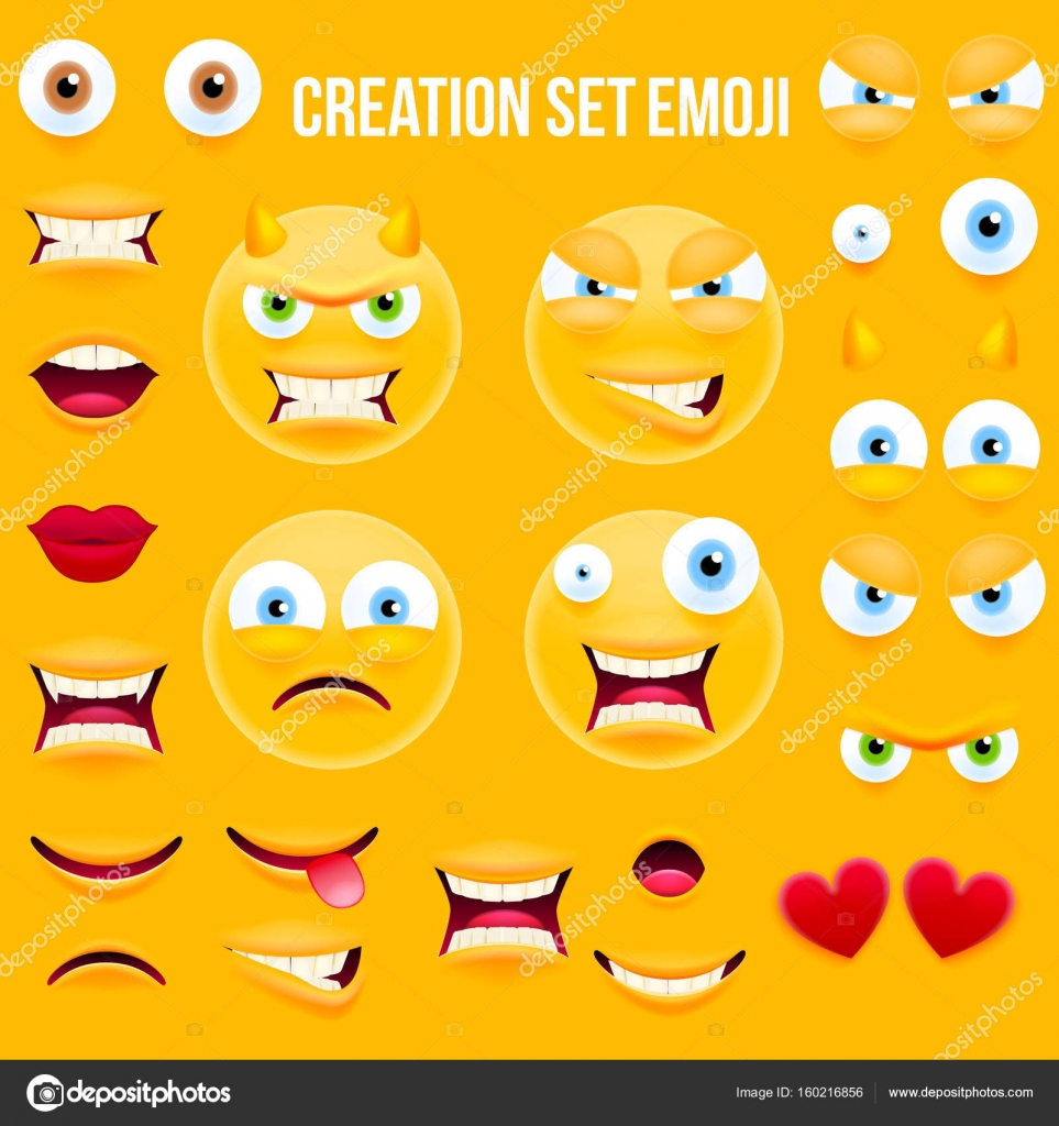 smiley face character for your scenes template stock vector ober