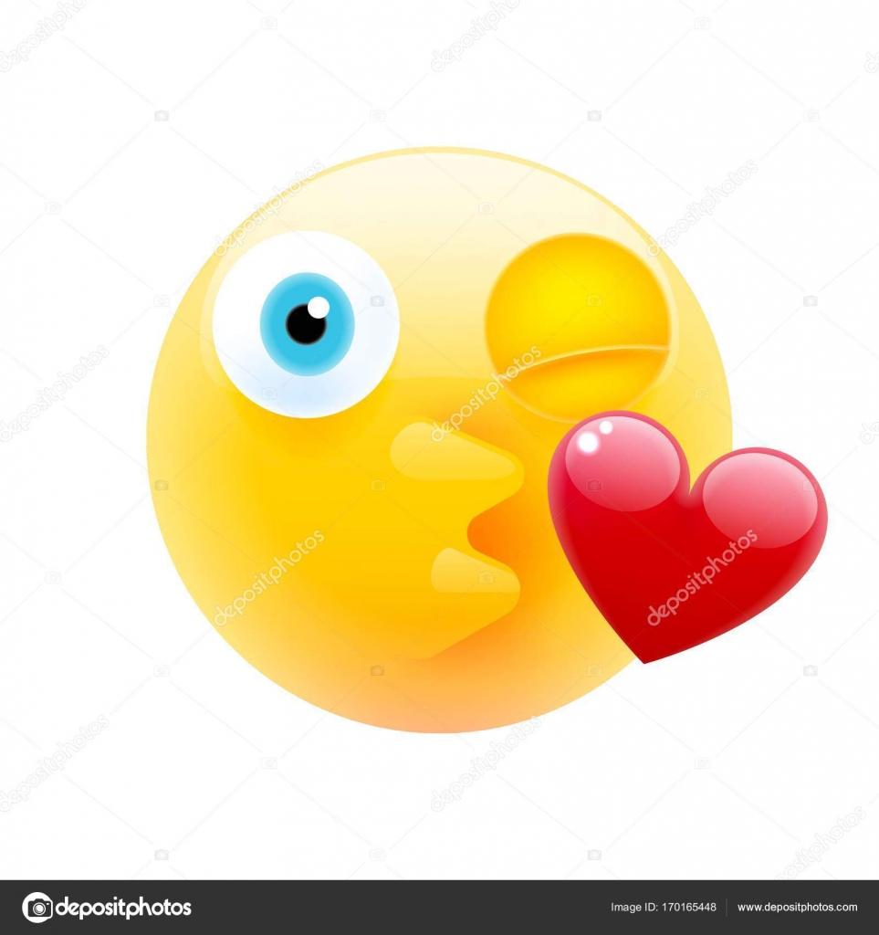 ein Kuss Emoticon senden