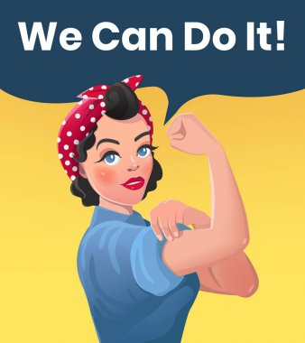 We Can Do It Poster Illustration