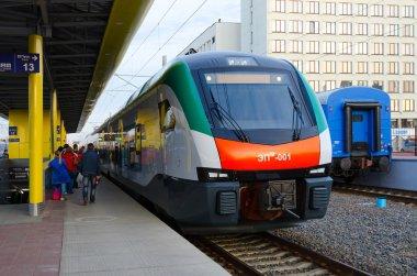 Electric train of business class (line Minsk-Gomel), Minsk, Belarus