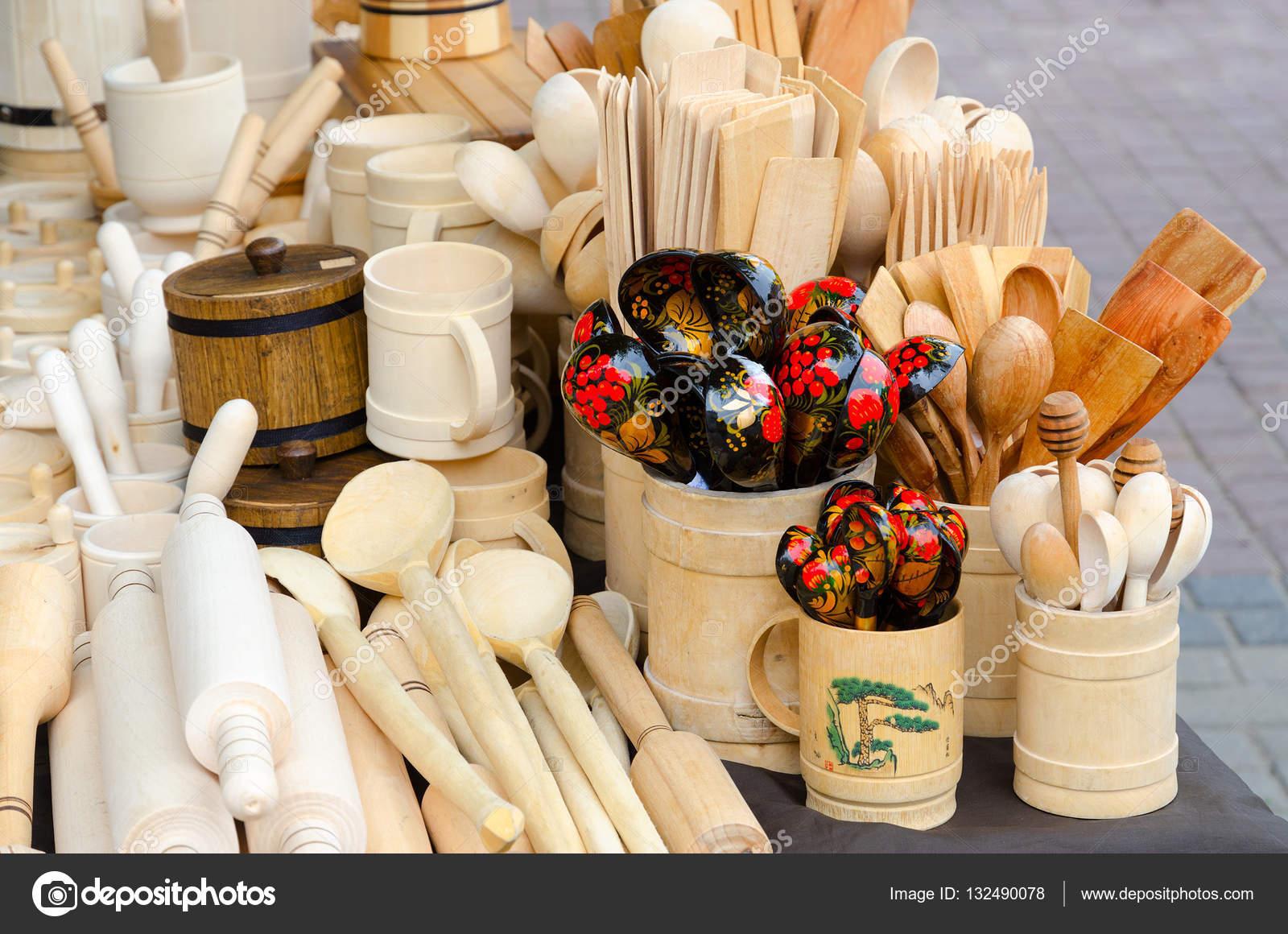 utensilios de cocina de madera — Foto de stock © Olga355 #132490078