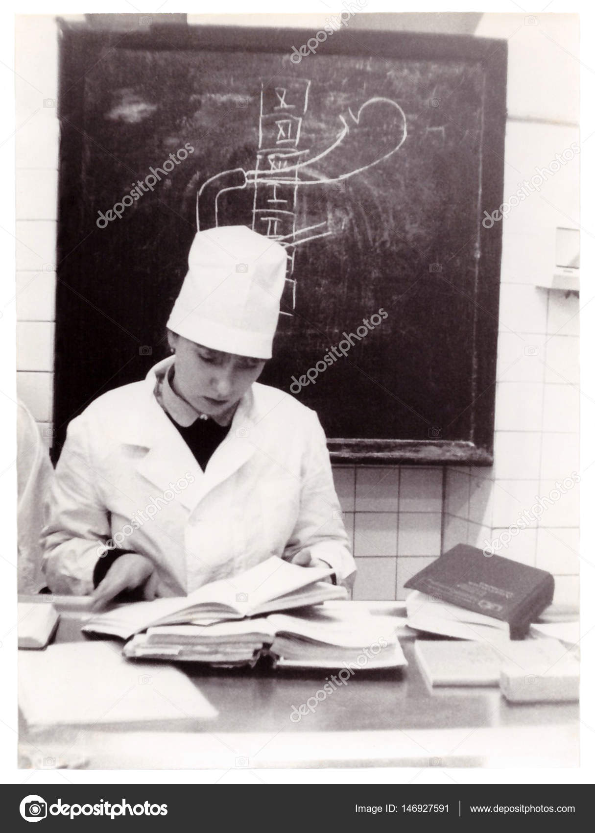 Student of Vitebsk Medical Institute at lessons at Department of ...