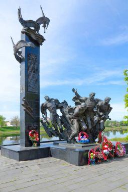 Monument to 23rd Warriors-Guardsmen on Nizhne-Pokrovskaya Street, Polotsk, Belarus