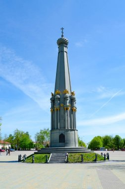 Monument to heroes of Patriotic War of 1812 on Liberty Square, Polotsk, Belarus