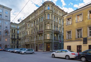 Memorial Museum Raznochinniy Peterburg in historic center of city on Bolshoy Kazachiy pereulok, 7-9, St. Petersburg, Russia