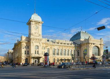 Vitebsk Railway Station, view from Zagorodny Prospekt, St. Petersburg, Russia