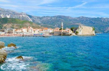 Beautiful view of Old Town, Budva, Montenegro