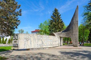 Monument in honor of 50 years of Komsomol, Polotsk, Belarus