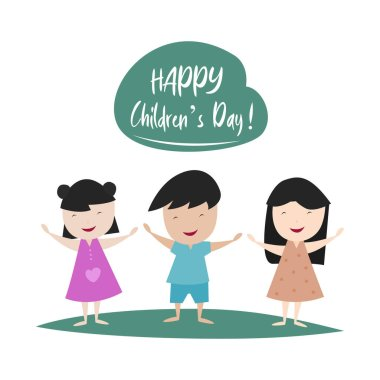 Happy Children's days simple vector illustration