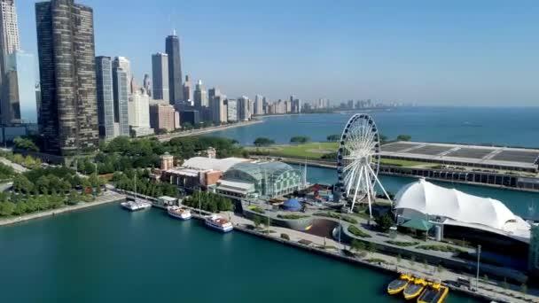 video z námořního mola Chicaga