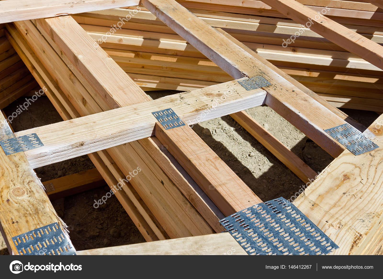 Wood Frame Nail Plate — Stock Photo © Johnnyrh #146412267
