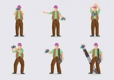 Vector Cartoon Character for Photography