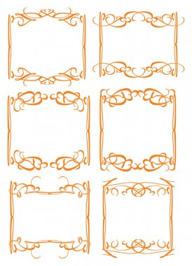 Vintage decorative design border