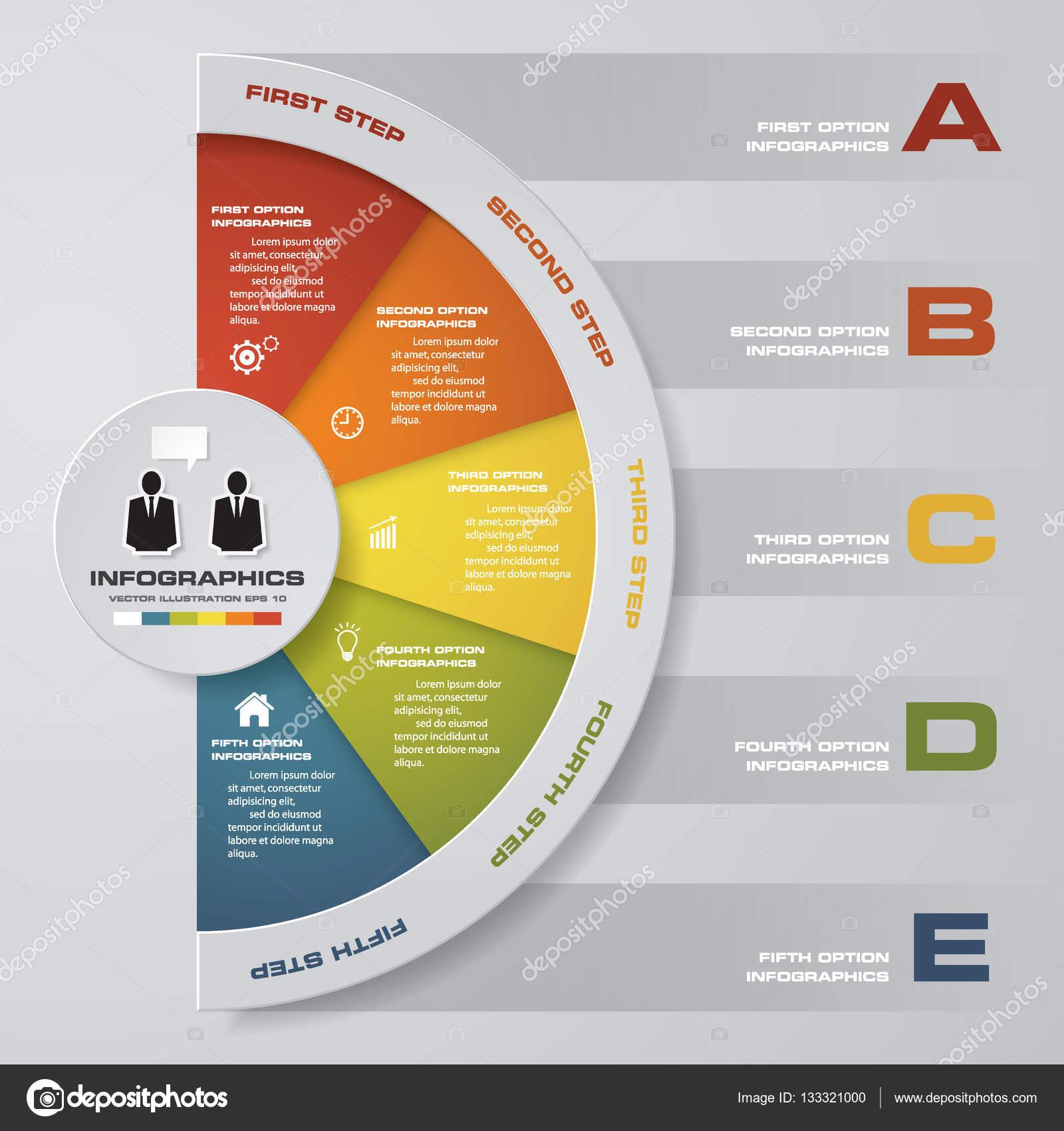 in 5 Schritten Diagrammlayout für Beispieltext & Daten. Entwerfen ...